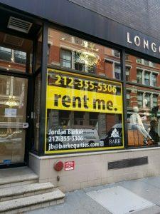 custom window real estate sign