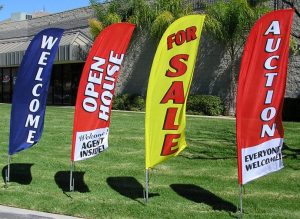 custom promotional flag signs