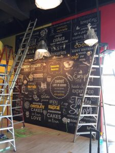 Vinyl Wall Mural installation